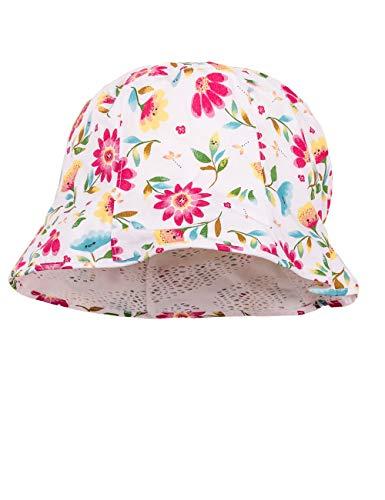 maximo Hut, Reversible Chapeau De Soleil, Multicolore (DarkPink-Grün-Gelb-Blumen 37), 49 Bébé Fille