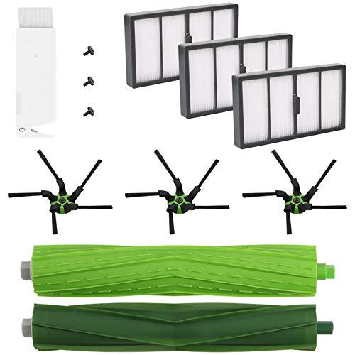 Accessoire compatible avec Roomba Série S9 Kit d'entretien avec Brosses & Filtres pour S9 Serie (9150) S9 + (9550) - Kit de 12 pièces de rechange(6brosses latérales,4filtres,2brosse principale)