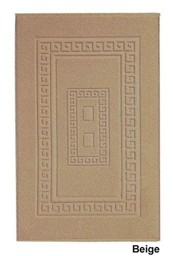 CASA TESSILE Tapis de Bain éponge 60 x 120 cm Torino - Beige