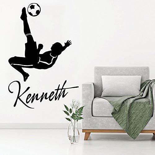 yaonuli fotobehang aangepaste gepersonaliseerde namen kinderkamer decoratie voetballer vinyl sticker verwijderbaar behang