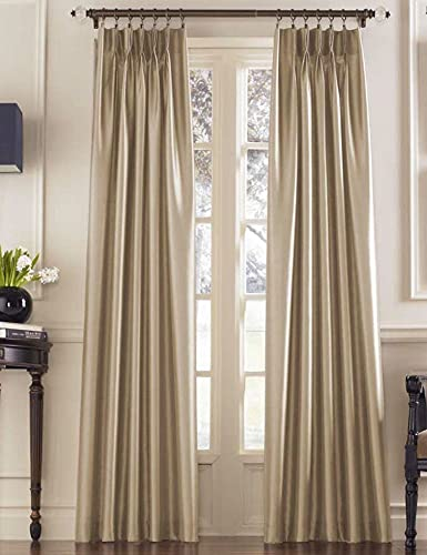 """Curtainworks 1Q800008SD Marquee Curtain Panel, 30 by 108"""", Sand (Champagne Beige)"""