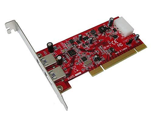 KALEA-INFORMATIQUE PCI Controller Karte USB 3.0SuperSpeed–2Ports–Professionelle/Komponenten, hochwertig–Treiber vorinstallierten für Windows/Mac/Linux.
