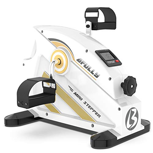 Afully Desk Exercise Bike Under Desk Bike Desk Exerciser, Pedal Exerciser, Mini Exercise Bike, Legs and Arms Exercise Equipment, Smooth and Quiet