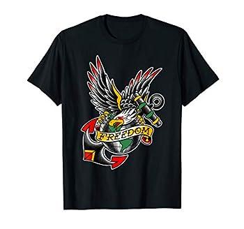 USA Traditional Tattoo style Bald Eagle  Freedom  T-shirt