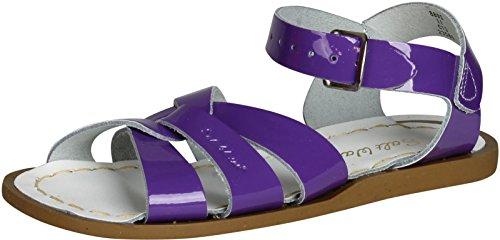 Salt Water Sandals Unisex-Kinder Flache Sandale, Glänzendes Violett, 35/37 EU