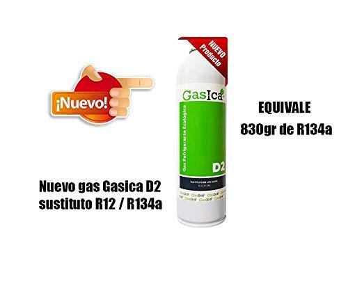 ALL4SALE - GAS ECOLOGICO GASICA D2 312gr SUSTITUTO R12 / R134A REFRIGERANTE CARGA EQUIVALENTE 830gr R134A