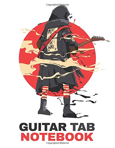 Guitar Tab Notebook Man In A Black Coat With A Guitar   Guitar/Bass Fretboard Paper   6 String Guitar Tablature   The Smart Practice Journal for Guitar