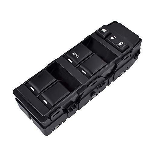 Driver Side Master Power Window Switch | with 1 AUTO Down | for Dodge Ram Charger Magnum Caliber Avenger Dokota Chrysler 200 300 Sebring Mitsubishi Raider Jeep Compass Patriot | #4602780AA, 4602780AB