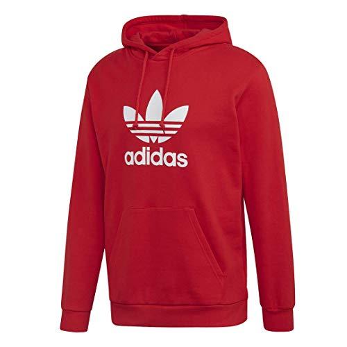 adidas Originals Men's Trefoil Hoodie Sweatshirt, Lush Red, S