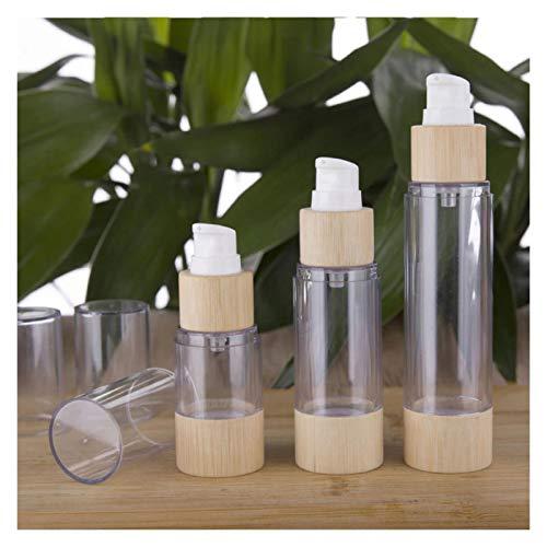 Cosméticos vacíos 20-120ml Botellas de Bombeo loción Espuma amistosa bambú vacío sin Aire Maquillaje Crema Cuidado de la Piel portátiles cosméticos Recargables para Mujeres Prueba de Fugas
