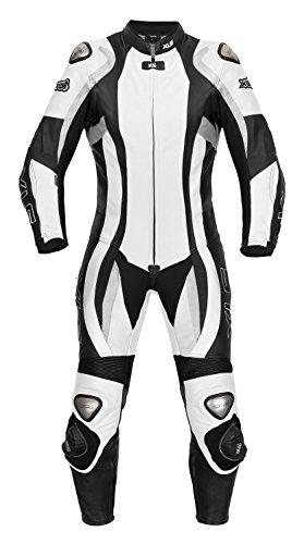 XLS Lederkombi Daytona Lady/Damen Einteiler in schwarz-weiss (36)