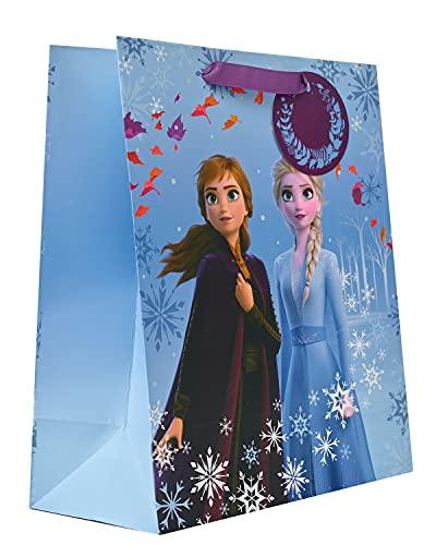 UK Greetings Disney Frozen Girls Birthday Gift Bag - Frozen Gift Bag for...