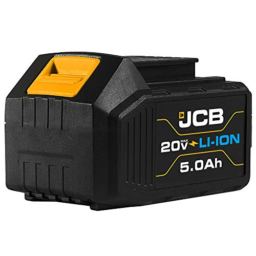 Jcb Tools - 20V Lithium-Ion Battery 5.0Ah With Charge Remaining Indicator - For Jcb 20V Power Tools - Drill, Jigsaw, Recip Saw, Circular Saw, Multi Tool, Miter Saw, Angle Grinder, LED Work Light