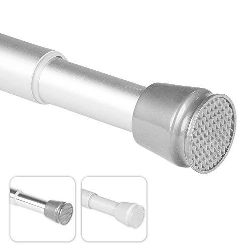 bomoe Duschvorhangstange Neptun - 55-90 cm - Aluminium - Teleskopstange als Duschstange ohne Bohren oder Kleiderstange - Stufenlos ausziehbar