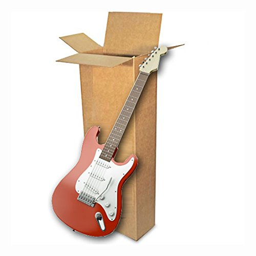 EcoBox 18 x 6 x 45 Inches, Electric Guitar Shipping Moving Corrugated Box Carton (E-4237)