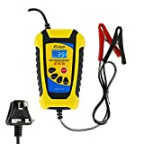 N Car Battery Charger 12V 6A, Fully Automatic Car Battery Maintainer and Jump Starter, Lcd Display Three Stage Fast Smart Intelligent Trickle Charger for Motorcycles Cars Ships and Other Equipment