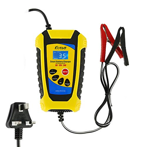 N Car Battery Charger 12V 6A, Fully Automatic Car Battery Maintainer and...