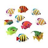 ALIANG 30 Piezas Figuras de Peces Peces de plástico para Adornos de Acuario para acuarios de Acuario Peces Tropicales favores de Fiesta