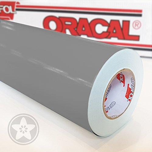 hauptsachebeklebt Oracal 621 Folie 074 - Mittelgrau Klebefolie - 5m x 63cm - Orafol - Möbelfolie - Plotterfolie- selbstklebend