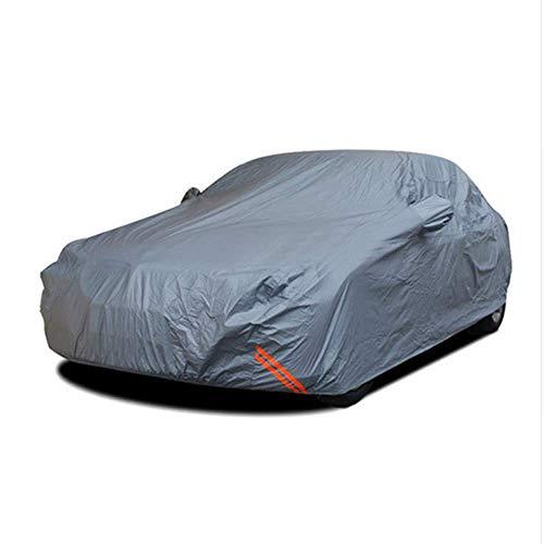 Cubiertas de protección solar de coches a prueba de agua al aire libre de polvo de algodón Peva Lluvia Nieve SUV Sedan Hatchback de protección de la cubierta completa for el coche