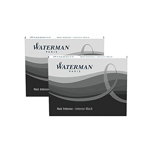 WAT52021 Refill Cartridges for Waterman Fountain Pens (2-Pack)