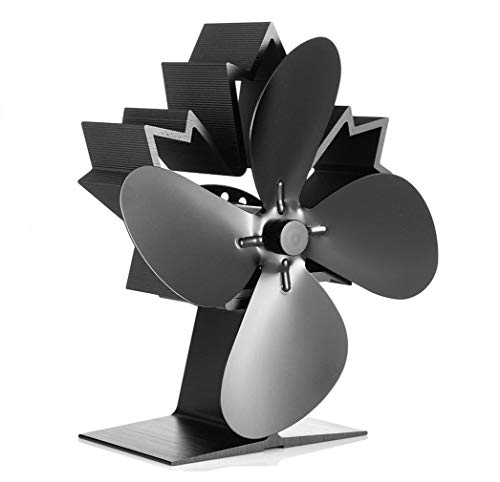 CRSURE Wood Stove Fan, 4-Blade Fireplace Fan Heat Powered, Thermal Fan for Wood Stove/Burner/Wood Burning Stove Top, Eco Friendly Fans Specially for Pellet Stove