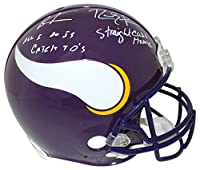 Randy Moss & Cris Carter Signed Minnesota Vikings Authentic Helmet BAS