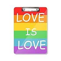 レインボーゲイ、レズビアン、トランスジェンダーのバイセクシャル フラットヘッドフォルダーライティングパッドテストA4