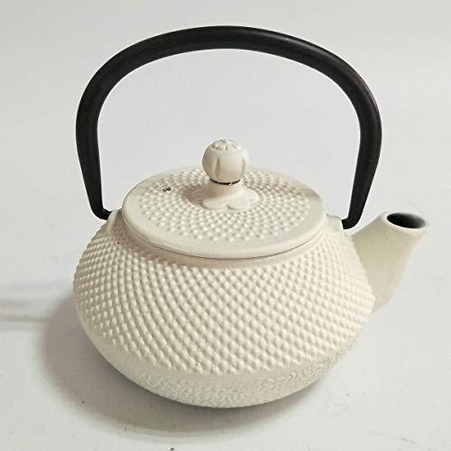 Oroley - Teiera Giapponese in Ghisa Tow | per Tè e Infusioni | Stile Tradizionale, Originale e Antico | Colore Bianco | 0,3 L