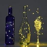 LEDGLE 8er Stück LED Lichterkette Batterie Kupfer Drahtlichterkette Warmweiß 1.2M&24LEDs Lichterketten Weihnachten Batteriebetrieben wasserdichte Lichter Flasche Dekoration - 6
