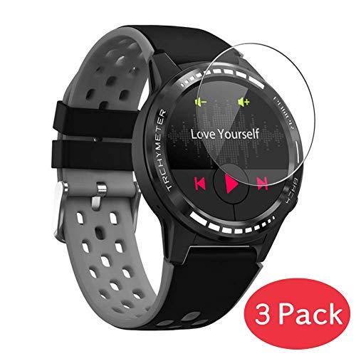 Vaxson 3 Stück 9H Panzerglasfolie kompatibel mit Smartwatch Smart Watch M7 Panzerglas Schutzfolie Displayschutzfolie Bildschirmschutz Intelligente Uhr Armband Smartwatch