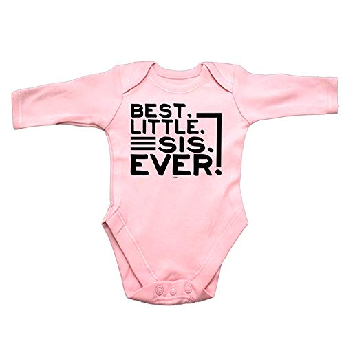 123t Funny Babygrow - Best Little Sis Ever Sister Baby...