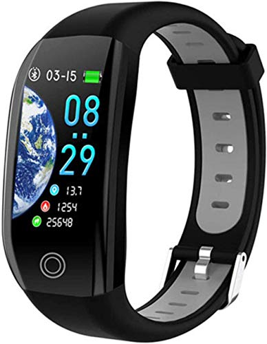 Gymqian Smart Watch, Smart Bracelet GPS Fitness Activity Tracker 1.14 Sport Waterproof Blood Pressure Watch Sleep Monitor Band Wristband-Black Best Gift/Black