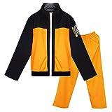 DAZCOS US Size Adult Anime Uzumaki Cosplay Costume (Men Medium) Orange