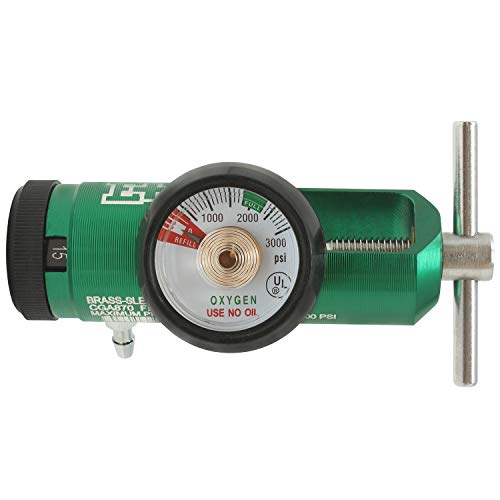 Ever Ready First Aid Oxygen Regulator CGA-870 Gauge Flow Rate with Wrench Key - 0-15LPM