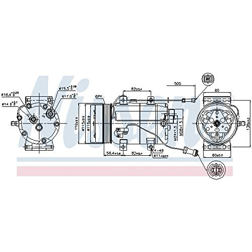 Nissens 89452Compressore, Climatizzatore