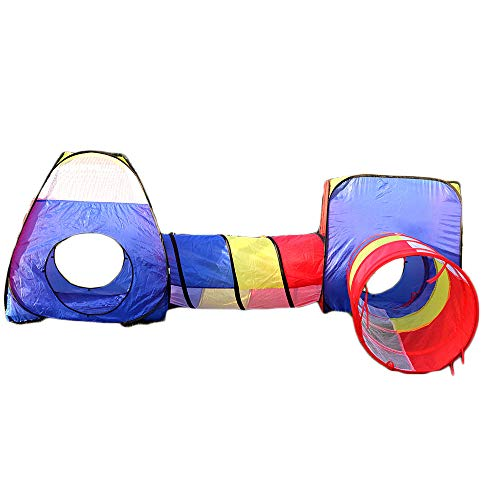 WJQ Pop-up-Zelt und Tunnel Indoor-Krabbeln Spielzeughaus Kinderspielplatz Bounce Theatre Outdoor-Produkte, langlebig und atmungsaktiv Mesh Leicht zu tragen