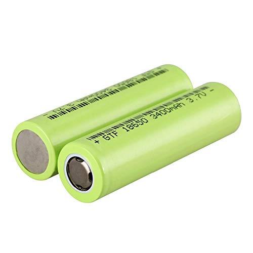 2 uds 3,7 V 3400 mAh 18650 batería Recargable protegida para linternas Faro batería Plana de Iones de Litio