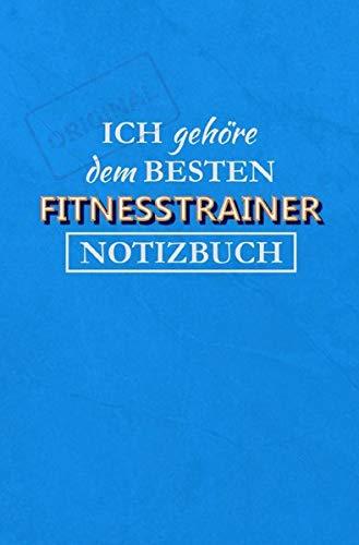 Notizbuch Fitnesstrainer: 120 Seiten Ringbindung mit lustigem Spruch