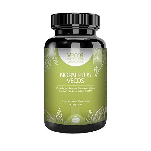 NOPAL PLUS 90 Cápsulas- 2000 mg por toma de extracto seco puro - Reduce el Apetito y Favorece la perdida de Peso. Con Te verde y Banaba