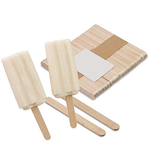 50 unids/lote de madera artesanal palillos de helado pop paletas de madera natural pastel herramientas DIY niños artesanía juguetes hielo molde