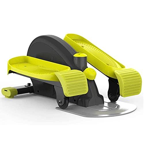 WGFGXQ Mini ellittica da Interno, Mini Cyclette , Fitness Compatto sotto la scrivania/Ellittica in Piedi, Strider Compatto Completamente assemblato con Resistenza Regolabile per l'allenamento Car