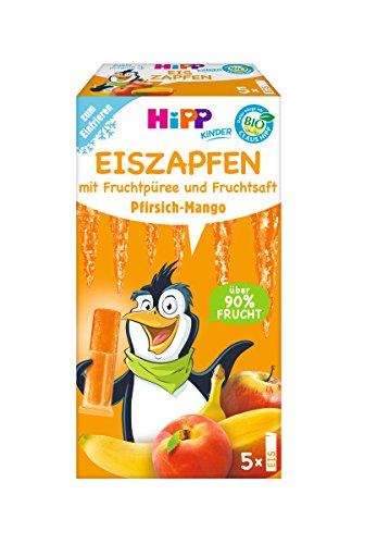 Hipp Kinder Dessert, Eis-Zapfen Pfirsich-Mango, 25 x 30 ml - Bio