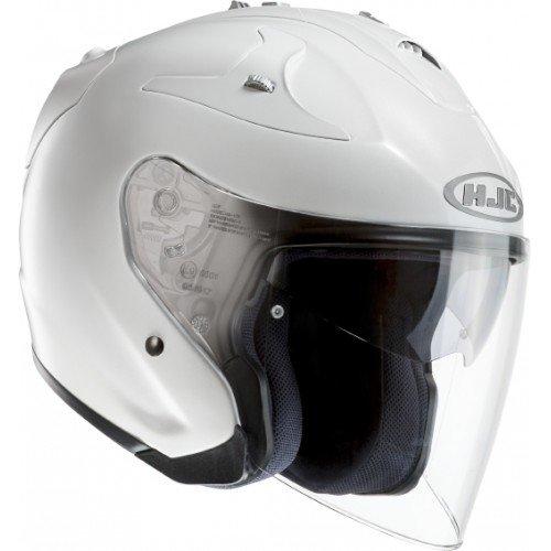 HJC Casque Moto FG-JET, Blanc, Taille L