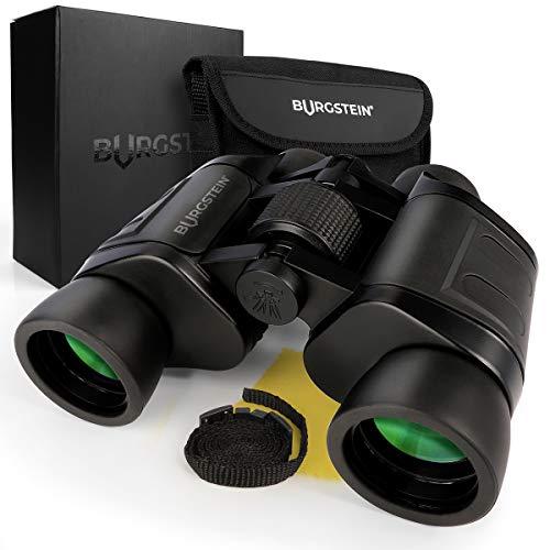 Burgstein® Prismáticos 8x40 - pequeños y potentes, Prismaticos Profesionales, Largo Alcance, Binoculares...