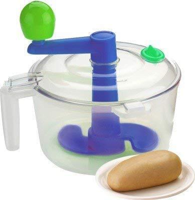 Kruvad 2 in 1 Atta Maker with Chop & Churn Veg Spiral Cutter, Dough Maker New Product (1pcs)