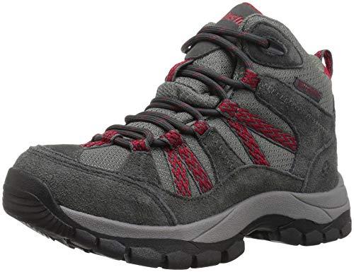 Northside Unisex-Kid's Freemont Waterproof Hiking Boot, Dark Gray/red, 6 Medium US Big Kid