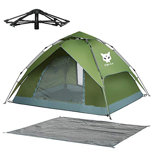 Night Cat Pop Up Tent 2 3 Man Person Camping Tent Waterproof Instant Automatic Easy Set Up Dome Holiday Tent
