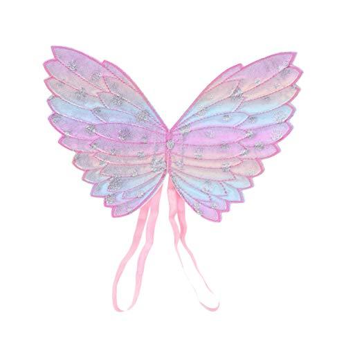 Amosfun Nias Alas de ngel de Hadas Fiesta Infantil Favores de Cumpleaos Disfraz Alas de Mariposa Accesorios de Rendimiento Suministros de Cosplay para Nios Pequeos