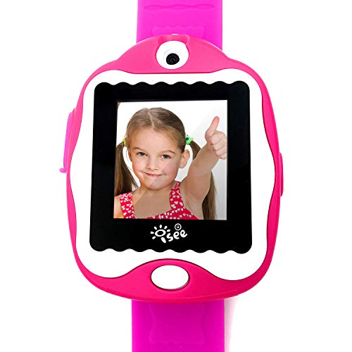 ISEE Durable Kids Smartwatch, Smart Game Touch Screen, Watch Digital Camera Clock Alarm for Girls (Pink)